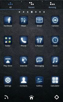 Bluelight Go Launcherex Theme